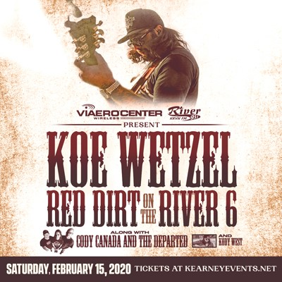 Image for KOE WETZEL with special guests Kody West and Cody Canada and The Departed. Red Dirt on the River 6