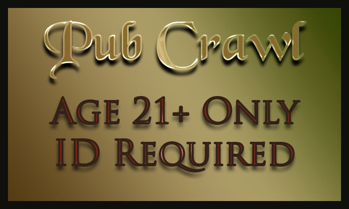 Image for Sherwood Forest Faire 2020 - Pub Crawl - 04/04/2020 12:00PM