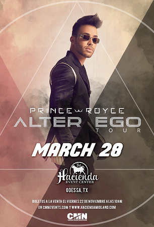 Image for Prince Royce - Alter Ego Tour 2020