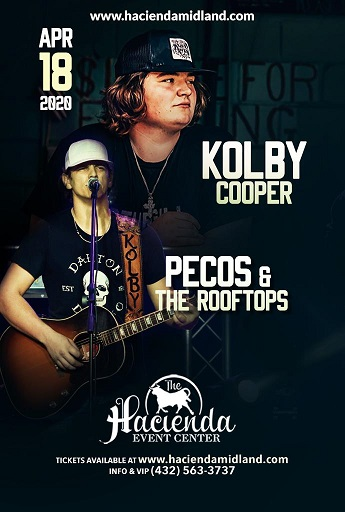 Image for KOLBY COOPER / PECOS & THE ROOFTOPS **Postponed from 4/18/20**
