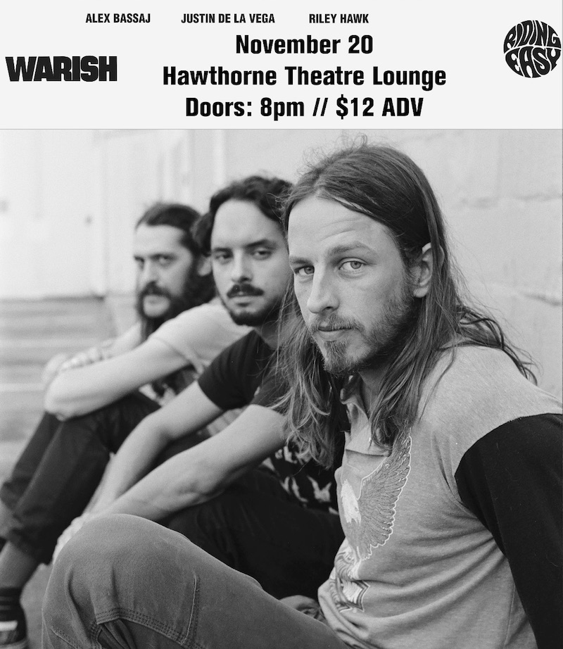 Image for WARISH + R.I.P., with DEATHCHANT and COLOR SHIFT *MOVED TO HAWTHORNE THEATRE*