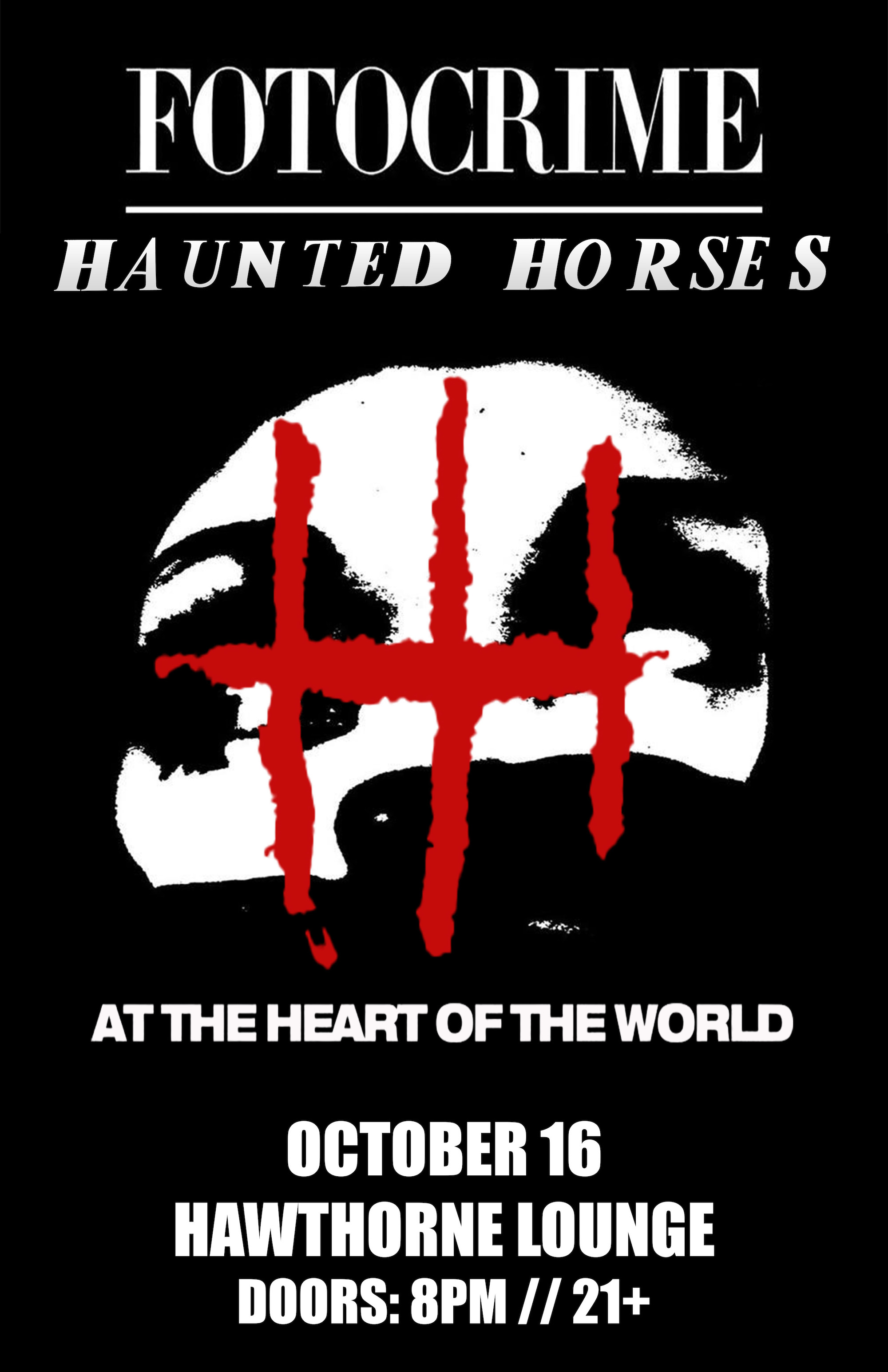 Image for FOTOCRIME + HAUNTED HORSES, with At The Heart Of The World