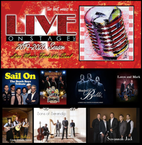Image for LIVE ON STAGE 2019-2020 6 SHOW SEASON PACKAGE