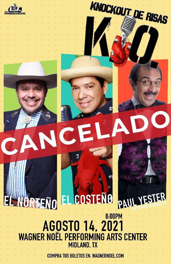 Image for KNOCKOUT DE RISAS featuring El Costeño, El Norteño & Gustavo Munguia